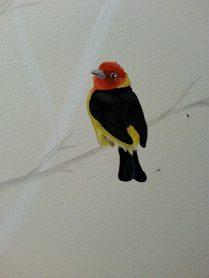 Pasillo de 11m pintado a mano con esmalte y pintura plástica